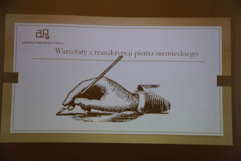 warsztaty z transkrypcji pisma niemieckiego