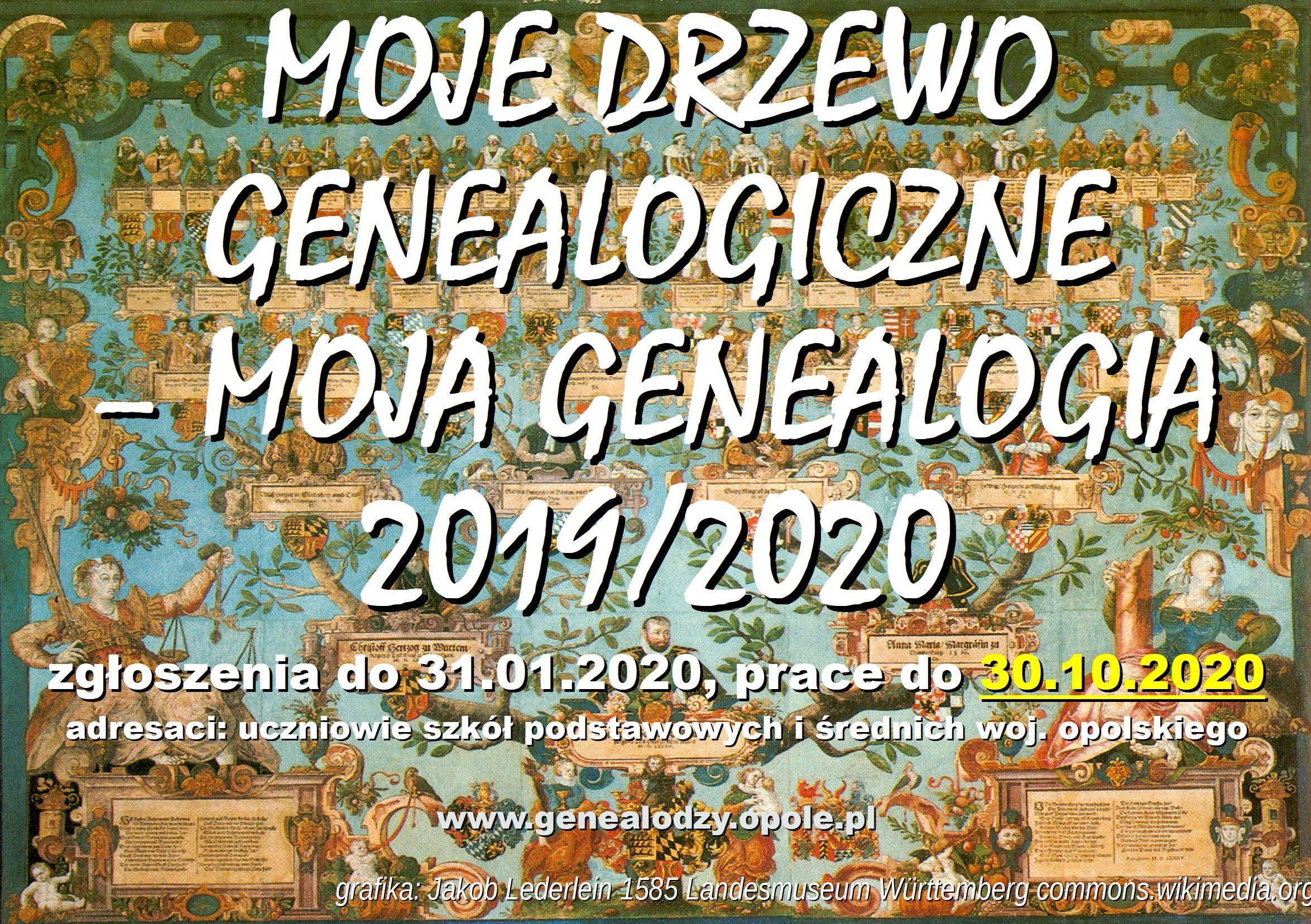 Konkurs Moje drzewo genealogiczne – moja genealogia III (2019/2020)