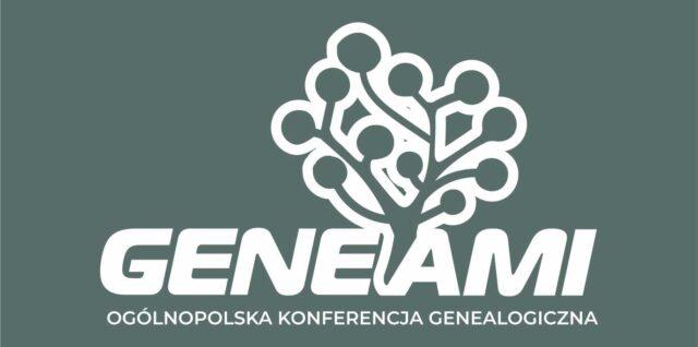 logo GENEAMI Ogólnopolska Konferencja Genealogiczna (P. Szymański) w kontrze