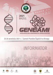 informator konferencji GENEAMI 8. Brzeg 2021